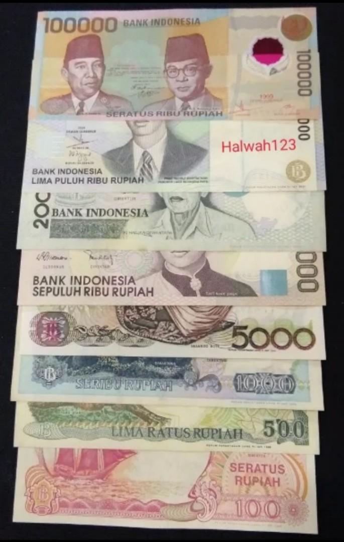 Uang kuno/uang lama set tahun 90 an