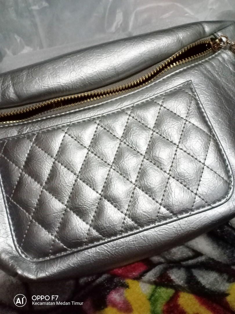 Waistbag chanel silver