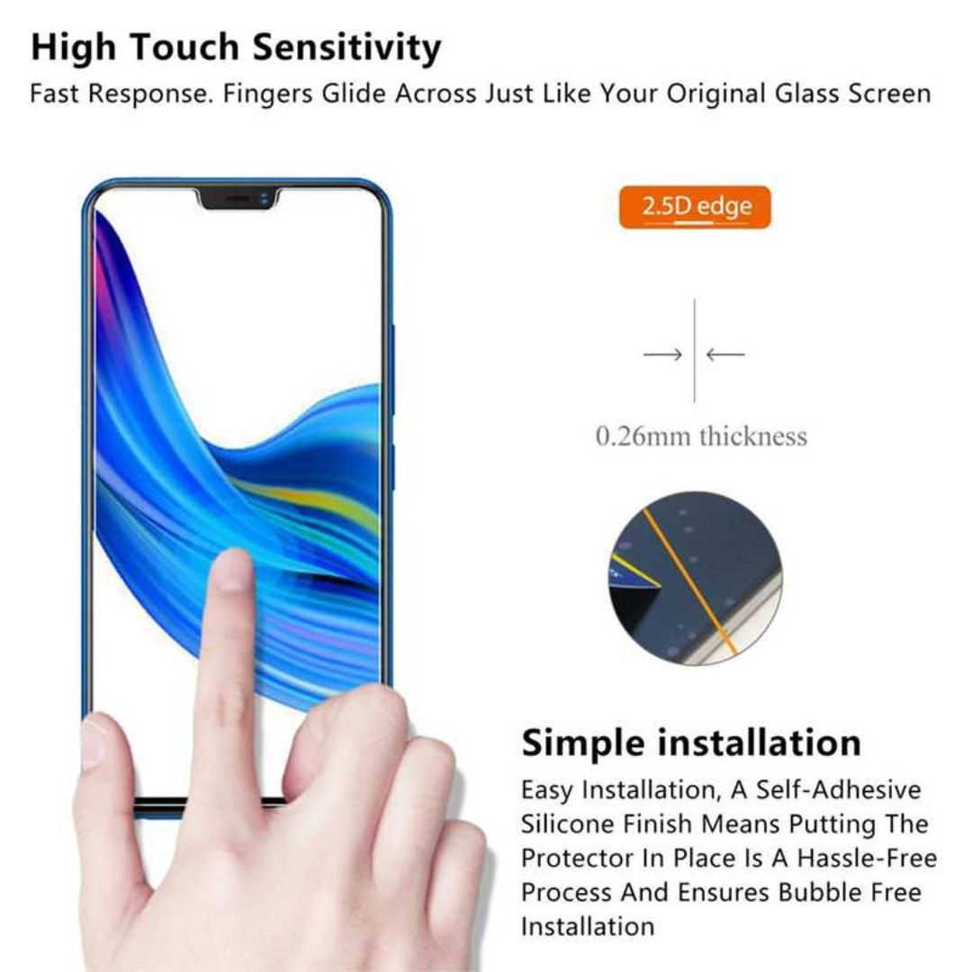 Zilla 2.5D Tempered Glass Curved Edge 9H 0.26mm for Vivo Z1 TItanGadget