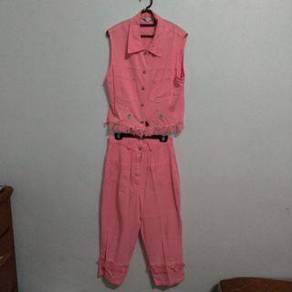 🚚 粉色背心小洋裝