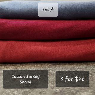 Cotton Jersey Shawl