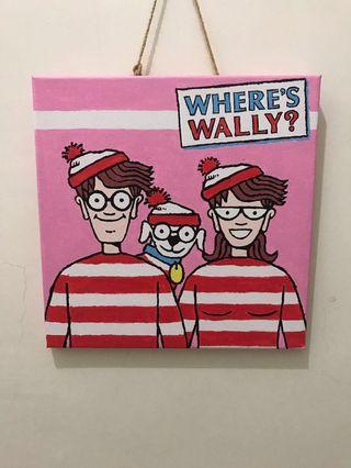 🚚 MANTO 威力在哪裡 Where's Wally? 數字油畫(已完成的作品)