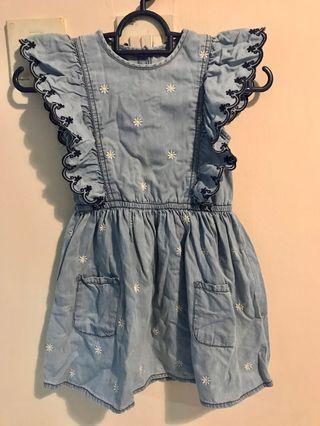 Mothercare Girl Denim Dress 5yo