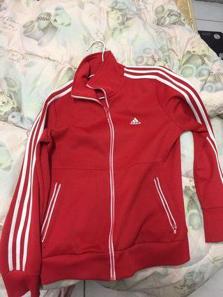 adidas紅色外套
