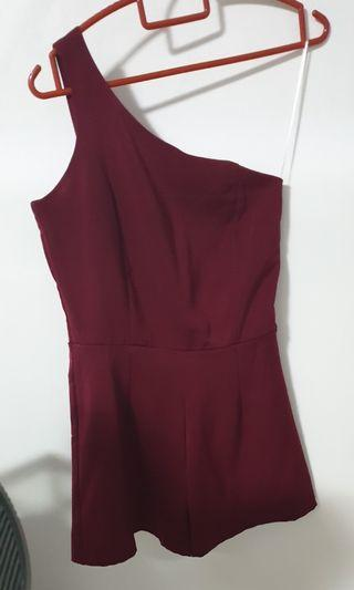 Maroon wine red toga Romper