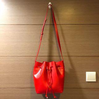 faux leather bucket bag 仿皮水桶袋