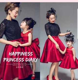 🚚 Evening gown- mother and daughter set