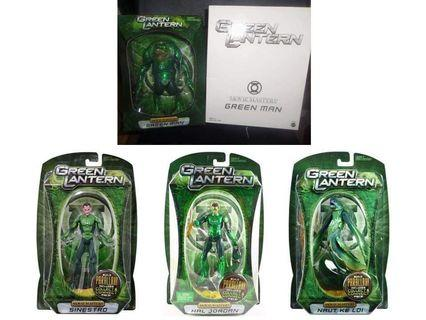 DC Green Lantern Movie Masters Green Man Sinestro Hal Jordan & Naut Ke Loi