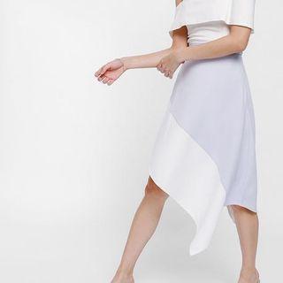 Skyre Asymmetrical Colour Block Skirt #OYOHOTEL