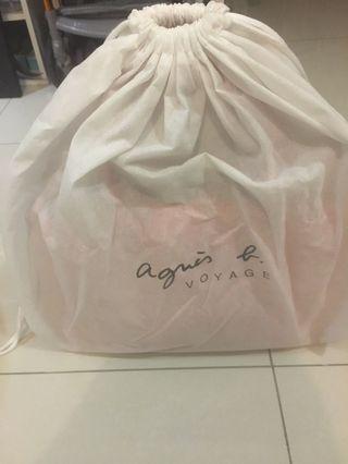 🚚 agnes b 粉色手提方包