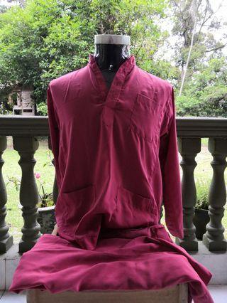 Baju Melayu Merah Bata