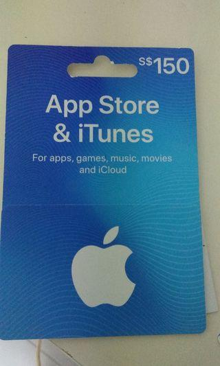 Apple Store & iTunes gift card, leaving SG discounted to 135