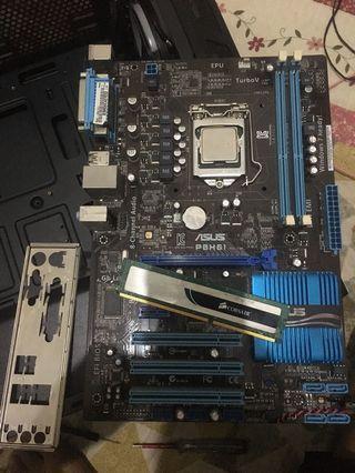i5 2400/mobo Asus H61/ram 4gb