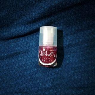 Kutek / Nail Polish Stroberi glitter pink