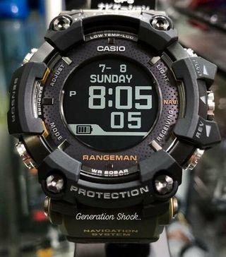 HURRY!! LAST 3-SETS ONLY!! : GSHOCK RANGEMAN DIVER SPORTS WATCH : 1-YEAR OFFICIAL WARRANTY : MILITARY RAINFOREST COLOUR with Wireless SMARTPHONE LINK Best For Most ROUGH Users & Unisex : GPR-B1000-1DR / GPRB1000-1 / GPR-B1000-1 / CASIO / GSHOCK / WATCH