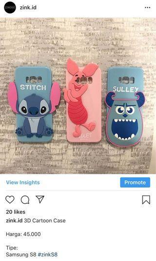 Samsung S8 3D Cartoon Case