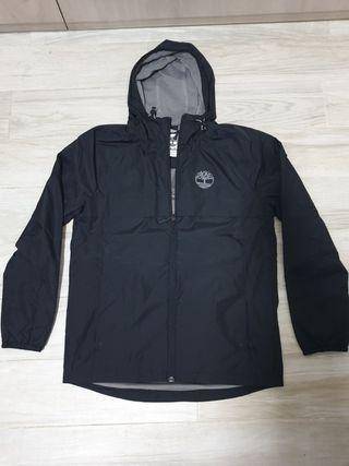 Timberland black jacket with hoodie