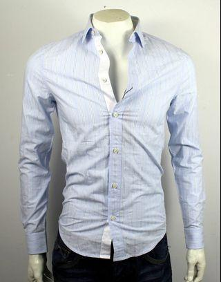 AX Armani Exchange Contrast Placket Cufflinks Striped Shirt