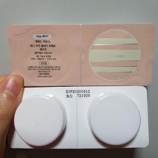 [Free Mail] Etude House Any Cushion Samples Travel Size - Beige colour [made in korea]