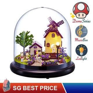 ❤️(SG BEST) UPGRADED Dome DIY Dollhouse with LED, Music Box and Dust Cover: Provence (2019) – CUTE ROOM Doll House 智趣屋: 普罗旺斯 [BEST PRICE GUARANTEED – LITTLEBUILDERS CUTEROOM TOGETHER AROUND SERIES ARCHITECTURE PUZZLES 一起环游系列 – IDEAL GIFT]