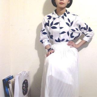 竹葉襯衫🍃(藍葉)