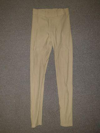 Beige Skinny Leg Fitted High Waist Pants Size 8 Great Condition