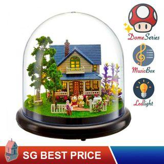 ❤️(SG BEST) UPGRADED Dome DIY Dollhouse with LED, Music Box and Dust Cover: Romantic Manor (2014) – CUTE ROOM Doll House 智趣屋: 浪漫庄园 [BEST PRICE GUARANTEED – LITTLEBUILDERS CUTEROOM TOGETHER AROUND SERIES ARCHITECTURE PUZZLES 一起环游系列 – IDEAL GIFT]