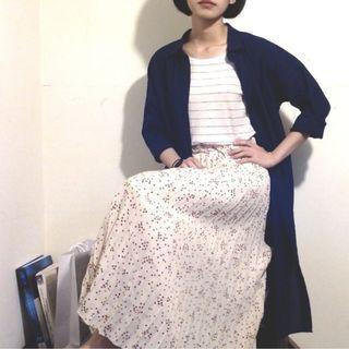 Uniqlo - Size s_藏青色長版七分袖襯衫