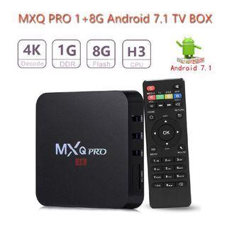 MXQ PRO 4K Smart TV Box 1G+8G H3 Quad Core Android 7.1 Media Player