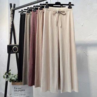 極舒適👍🏻冰絲針織高腰寬褲