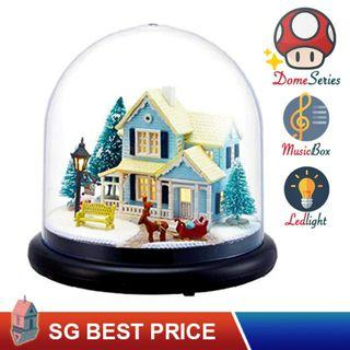 🚚 ❤️(SG BEST) UPGRADED Dome DIY Dollhouse with LED, Music Box and Dust Cover: Nordic Fairy Tale (2025) – CUTE ROOM Doll House 智趣屋: 北欧童话 [BEST PRICE GUARANTEED – LITTLEBUILDERS CUTEROOM TOGETHER AROUND SERIES ARCHITECTURE PUZZLES 一起环游系列 – IDEAL GIFT]