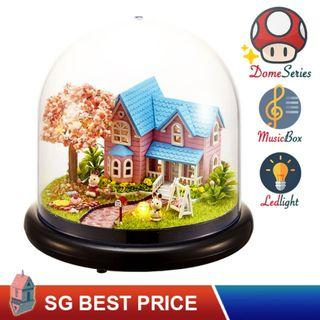 🚚 ❤️(SG BEST) UPGRADED Dome DIY Dollhouse with LED, Music Box and Dust Cover: Cherry Conventions (2016) – CUTE ROOM Doll House 智趣屋: 樱花约定 [BEST PRICE GUARANTEED – LITTLEBUILDERS CUTEROOM TOGETHER AROUND SERIES ARCHITECTURE PUZZLES 一起环游系列 – IDEAL GIFT]