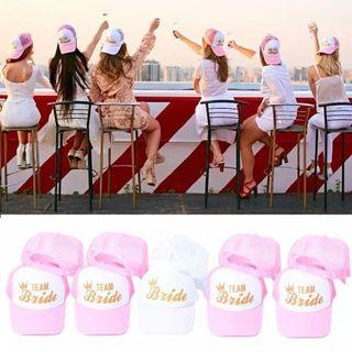 1PCS BRIDE TEAM Baseball Cap Bride To Be Bachelorette Party Bridal Shower Wedding Party Decoration Bride Hen Party Accessories