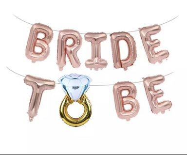 16 inch bride to be balloons