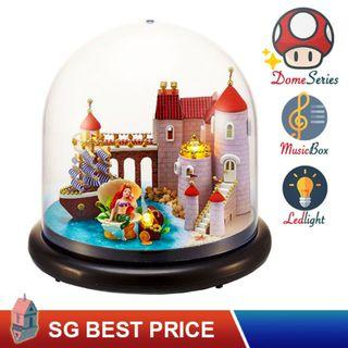 ❤️(SG BEST) UPGRADED Dome DIY Dollhouse with LED, Music Box and Dust Cover: Sweet Mermaid (2013) – CUTE ROOM Doll House 智趣屋: 甜美人鱼 [BEST PRICE GUARANTEED – LITTLEBUILDERS CUTEROOM TOGETHER AROUND SERIES ARCHITECTURE PUZZLES 一起环游系列 – IDEAL GIFT]