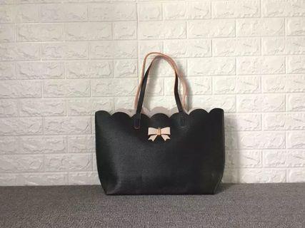 Free mailing! Black Handbag multipurpose mummy bag