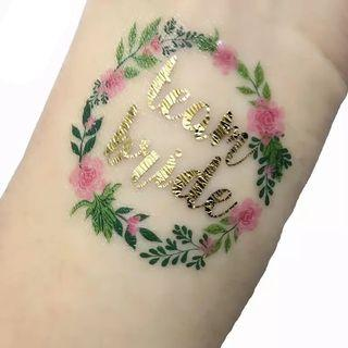 Floral team bride tattoo/sticker