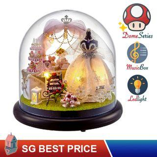 🚚 ❤️(SG BEST) UPGRADED Dome DIY Dollhouse with LED, Music Box and Dust Cover: Love is Forever (2022) – CUTE ROOM Doll House 智趣屋: 爱是永恒 [BEST PRICE GUARANTEED – LITTLEBUILDERS CUTEROOM TOGETHER AROUND SERIES ARCHITECTURE PUZZLES 一起环游系列 – IDEAL GIFT]