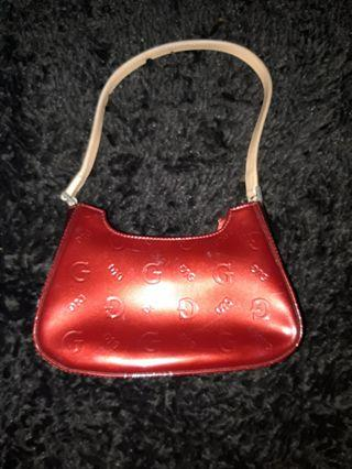 Red glossy bag