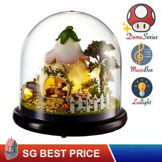 🚚 ❤️(SG BEST) UPGRADED Dome DIY Dollhouse with LED, Music Box and Dust Cover: Totoro's Green Garden (2015) – CUTE ROOM Doll House 智趣屋: 龙猫格林花园 [BEST PRICE GUARANTEED – LITTLEBUILDERS CUTEROOM TOGETHER AROUND SERIES ARCHITECTURE PUZZLES 一起环游系列 – IDEAL GIFT]