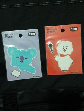 bt21 koya/rj soft deco sticker