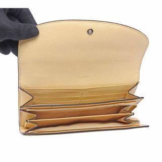 COACH 馬車LOGO素面皮革兩折長夾(厚款)(黃色 )