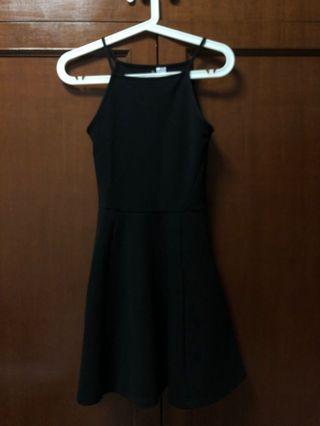 Black Skater Halter Dress (H&M Divided)