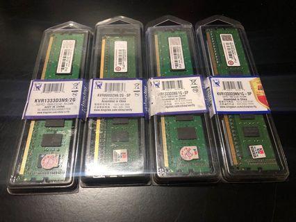 創見DDR3 1333 2G記憶體 產品有終身保固!