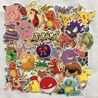 (Stickers) 40pc Pokemon Series Assorted
