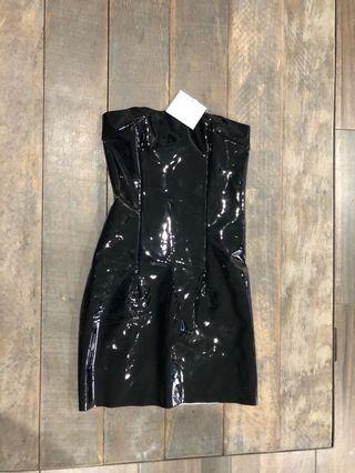 MESHKI LATEX DRESS | size small