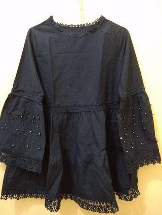 Pearl Blouse Navy