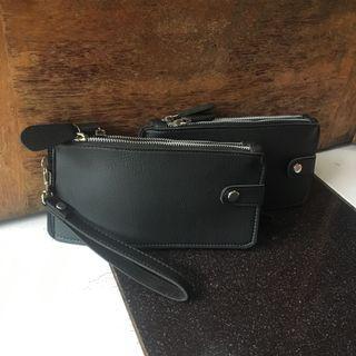 Dompet holder unisex black