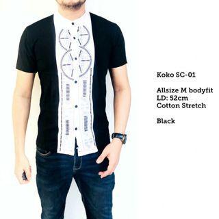 Baju Koko Pendek Short SC01