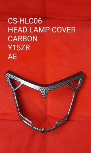 Head lamp cover n front fairing cover carbon Y15ZR